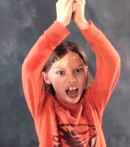 Another picture of a kid from the video