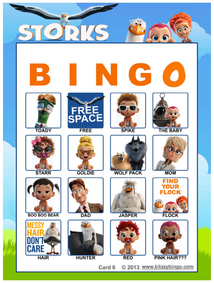Bingo_Cards For Movie Night