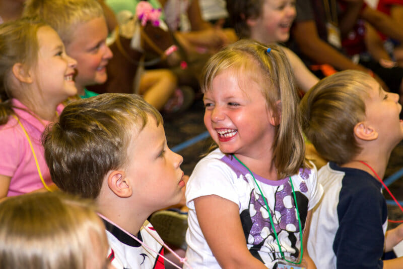 Fun Magic Show Kids Laughing Pic